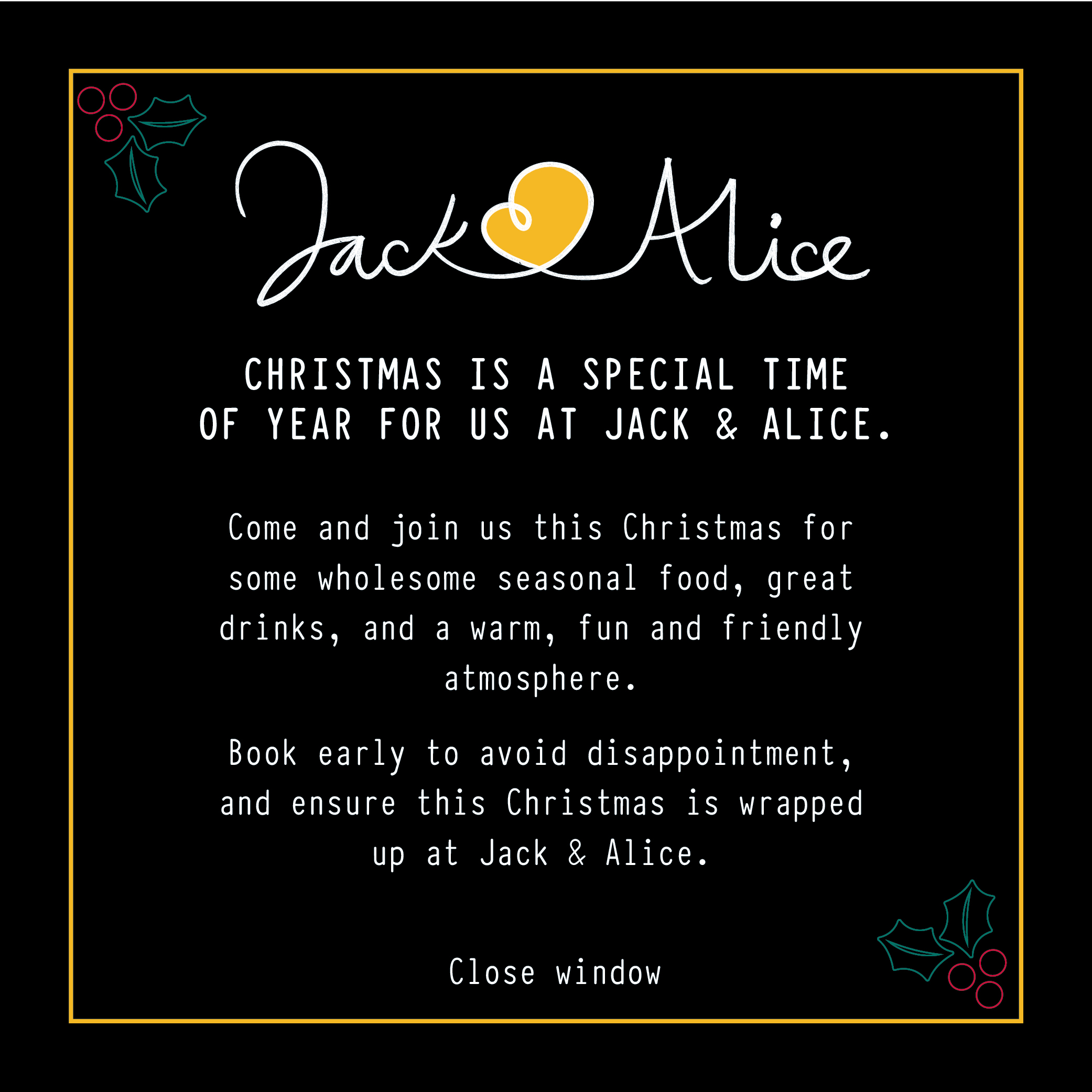 Christmas at Jack and Alice